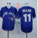 Top Quality ! Toronto Blue Jays Jersey Troy  Pillar  #11 Jerseys blue
