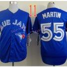 Top Quality ! Toronto Blue Jays Jersey Troy  Martin  #55 Jerseys blue