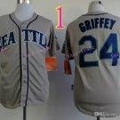 2015 Ken Griffey Jr Jersey Cool Base Seattle Mariners 1979 Turn Back retro gray