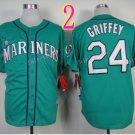2015 Ken Griffey Jr Jersey Cool Base Seattle Mariners 1979 Turn Back retro green