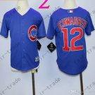 Chicago Cubs Jersey Kids 12 Kyle Schwarber Jersey color blue