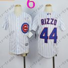 Chicago Cubs Jersey Kids  #44 Anthony Rizzo Jersey color white