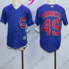 Chicago Cubs Jersey Kids  ##49 Jake Arrieta Jersey color blue