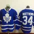 2016 Men Toronto Maple Leafs Ice Hockey Jerseys #34 Auston Matthews blue Jersey