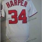 Washington Nationals #34 Bryce Harper 2015 Baseball Jersey Rugby Jerseys white style 2