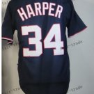 Washington Nationals #34 Bryce Harper 2015 Baseball Jersey Rugby Jerseys black style 1