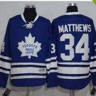 2017 New Toronto Maple Leafs Jerseys 100th Anniversary 34 Auston Matthews  Hockey Jersey bue
