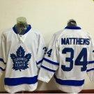 2017 Toronto Maple Leafs Jerseys 100th Anniversary 34 Auston Matthews  Hockey Jersey white style 3