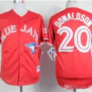 toronto blue jays #20 josh donaldson 2015 Baseball Jersey Rugby Jerseys Authentic Stitched red