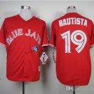 toronto blue jays #19 jose bautista 2015 Baseball Jersey Rugby Jerseys Authentic Stitched red