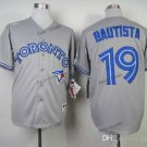 toronto blue jays #19 jose bautista 2015 Baseball Jersey Rugby Jerseys Authentic Stitched gray