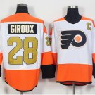 50th Anniversary Philadelphia Flyers Jerseys 28 Claude Giroux Winter Classic Gold Throwback Hockey
