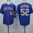 New York Mets  #52 Yoenis Cespedes 2015 Baseball Jersey Rugby Jerseys Authentic Stitched style 3