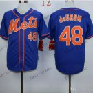 New York Mets  #48 Jacob DeGrom  2015 Baseball Jersey Rugby Jerseys Authentic Stitched style 2