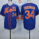 New York Mets 34 noah syndergaard 2015 Baseball Jersey Rugby Jerseys Authentic Stitched style 2