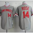 cincinnati reds #14 pete rose 2015 Baseball Jersey Rugby Jerseys Authentic Stitched color gray