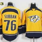 Hot Jerseys Nashville Ice Hockey 76 P.K. PK Subban  Team Color Yellow