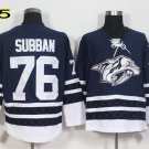 Hot Jerseys Nashville Ice Hockey 76 P.K. PK Subban  Team Color Alternate Blue