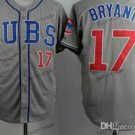 Chicago Cubs 17# Kris Bryant 2015 Baseball Jersey Rugby Jerseys Authentic Stitched style 2