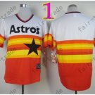 Hot Top Quality Jerseys Houston Astrosl Rainbow Orange Jersey