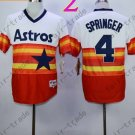 Hot Top Quality Jerseys Houston Astrosl #4 George Springer Rainbow Orange Jersey