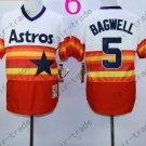 Hot Top Quality Jerseys Houston Astrosl 5# Jeff Bagwell  Rainbow Orange Jersey