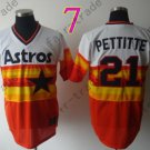 Hot Top Quality Jerseys Houston Astros l#21 Andy Pettittel  Rainbow Orange Jersey