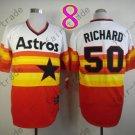Hot Top Quality Jerseys Houston Astros #50 J.R. Richard  Rainbow Orange Jersey