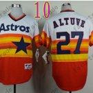 Hot Top Quality Jerseys Houston Astros  Jose Altuve #27  Rainbow Orange Jersey
