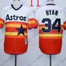 Hot Top Quality Jerseys Houston Astros #34 Nolan Ryan  Rainbow Orange Jersey