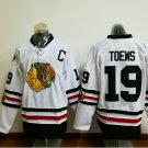 2017 Winter Classic Jerseys Chicago Blackhawks  #19 Jonathan Toews White Jersey