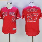 Los Angeles Angels 27 Mike Trout Jersey Flexbase LA Angels Mike Trout Baseball Jerseys red style 1