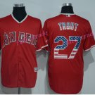 Los Angeles Angels 27 Mike Trout Jersey Flexbase LA Angels Mike Trout Baseball Jerseys red style 2