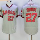 Los Angeles Angels 27 Mike Trout Jersey Flexbase LA Angels Mike Trout Baseball Jerseys gray style 2