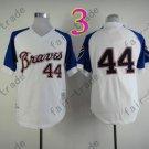 2014 NEW Hank Aaron Jersey White Cream Cool Base Atlanta Braves Jerseys style 2