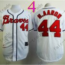 2014 NEW Hank Aaron Jersey White Cream Cool Base Atlanta Braves Jerseys style 3