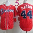 2014 NEW Hank Aaron Jersey red Cool Base Atlanta Braves Jerseys