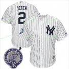 With Retirement Patch #2 Derek Jeter 2017 New York Yankees Men All Stitched Baseball Jersey white 1