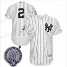 With Retirement Patch #2 Derek Jeter 2017 New York Yankees Men All Stitched Baseball Jersey white 2