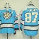 #87 Sidney Crosby Youth Ice Hockey Jerseys Kids Boys Stitched Jersey Blue