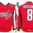 washington 8 Alex Ovechkin Throwback Vintage Jersey ICE Hockey Jerseys Heritage Stitched