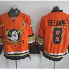 Anaheim Ducks 2017 Stanley Cup Finals patch Playoffs 8 Selanne Orange  Hockey Jerseys