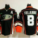 Anaheim Ducks 2017 Stanley Cup Champions patch Playoffs 8 Selanne Black Hockey Jerseys