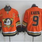 Anaheim Ducks 2017 Stanley Cup Champions patch Playoffs 9 Kariya Orange Hockey Jerseys