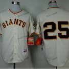 san francisco giants #25 barry bonds 2015 Baseball Jersey  Rugby Jerseys Authentic Stitched white 1