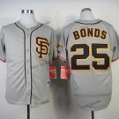 san francisco giants #25 barry bonds 2015 Baseball Jersey  Rugby Jerseys Authentic Stitched Gray 2