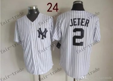 New York #2 Derek Jeter 2015 Baseball Jersey Rugby Jerseys Authentic Stitched