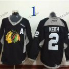 Chicago Blackhawks Practice #2 Duncan Keith Training  Black Stitched Hockey Jerseys