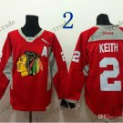 Chicago Blackhawks Practice #2 Duncan Keith Training Red Stitched Hockey Jerseys