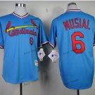 st. louis cardinals #6 stan musial 2015 Baseball Jersey Rugby Jerseys Authentic Stitched Blue